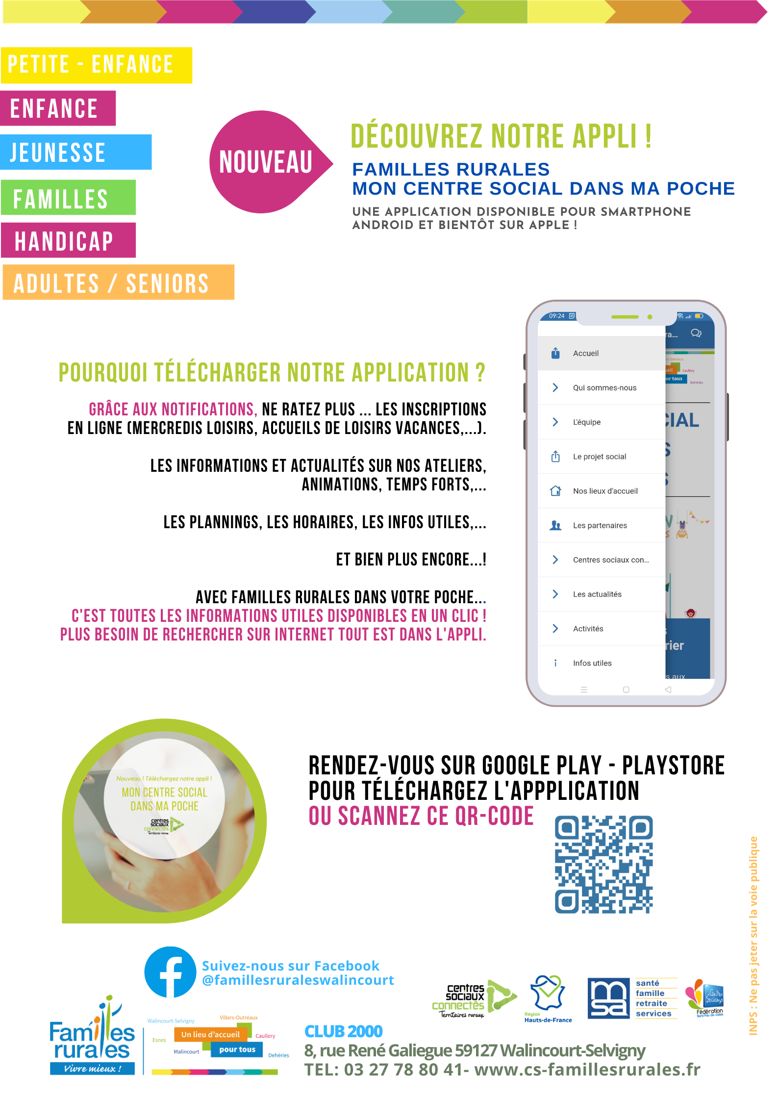 Application mobile Familles Rurales Walincourt