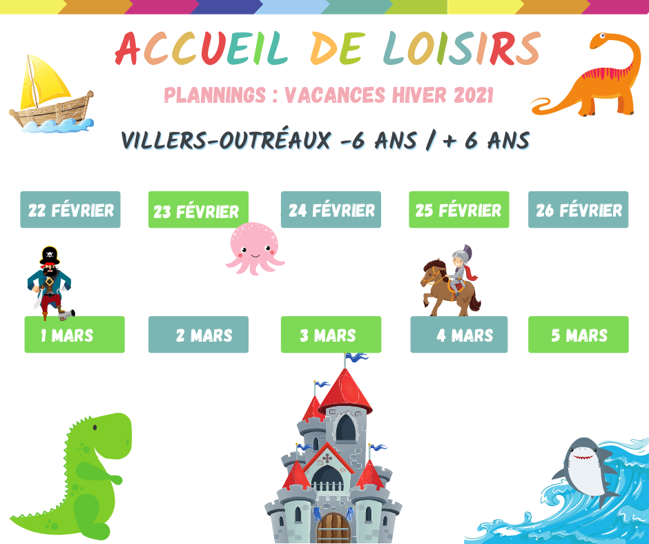planning accueil loisirs villers
