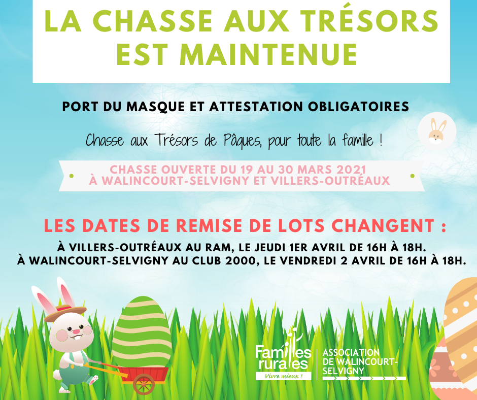 Chasse aux tresors paques