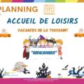 planning vacances toussaint 2021 Walincourt et Villers outreaux